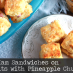 Mini Ham Sandwiches on Buttermilk Biscuits with Pineapple Chutney